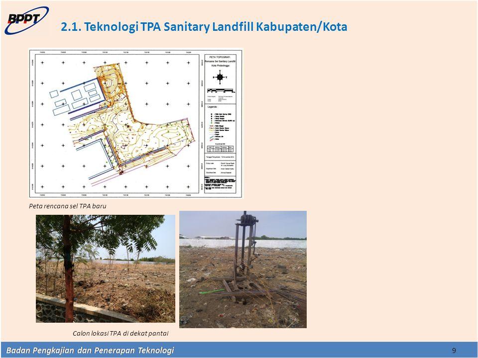 2.1. Teknologi TPA Sanitary Landfill Kabupaten/Kota
