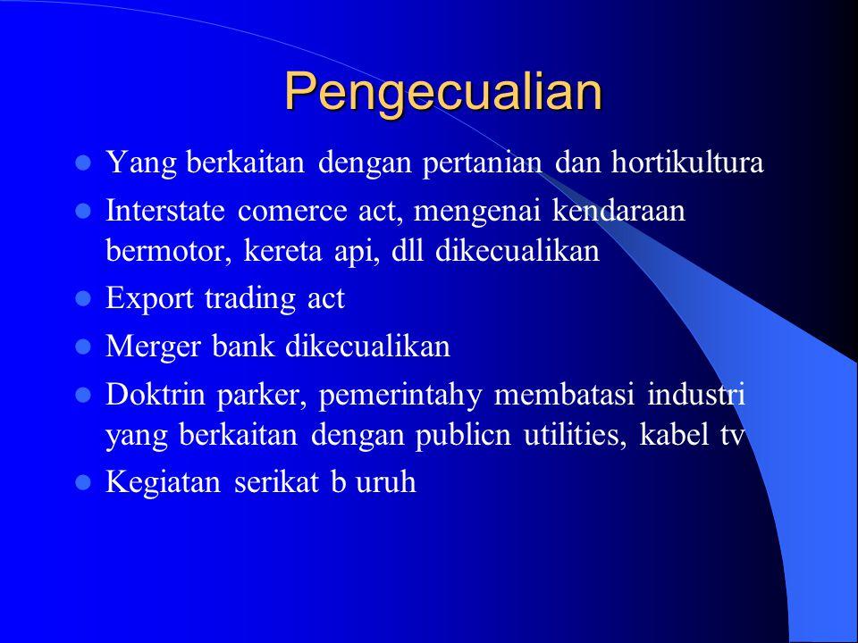 Pengecualian Yang berkaitan dengan pertanian dan hortikultura