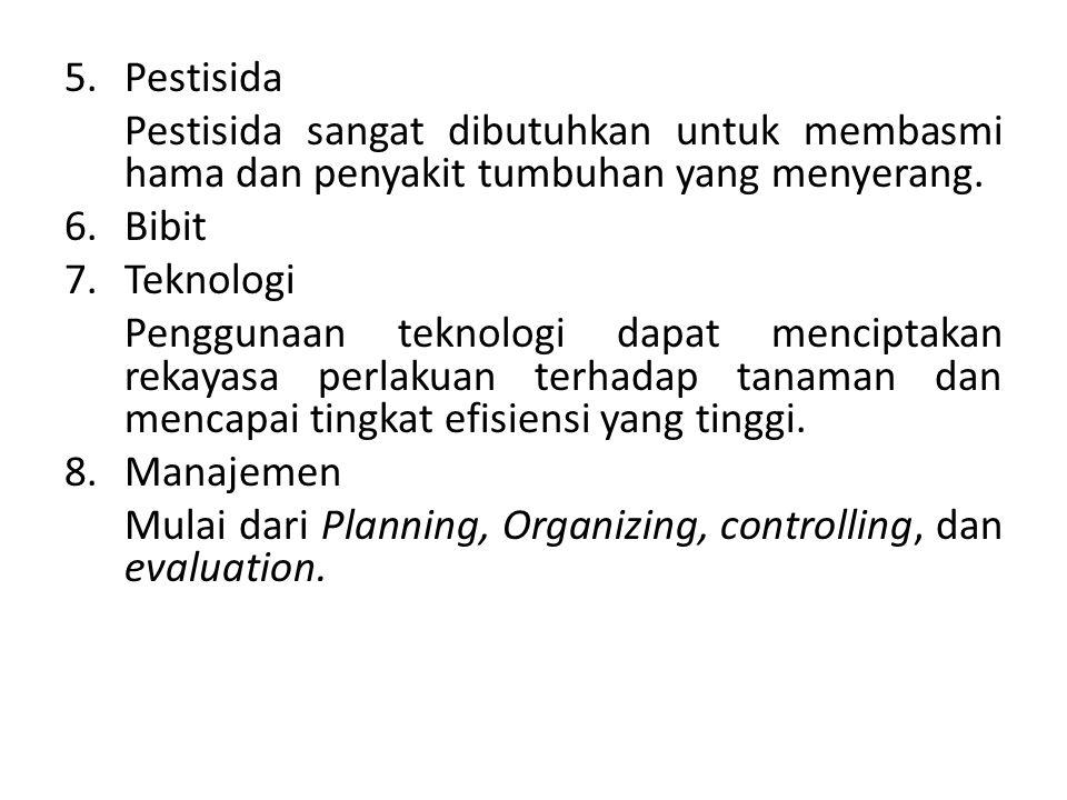 Pestisida Pestisida sangat dibutuhkan untuk membasmi hama dan penyakit tumbuhan yang menyerang. Bibit.