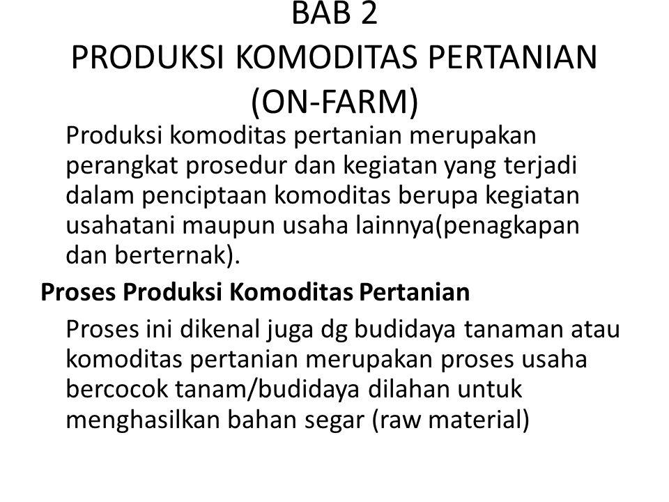 BAB 2 PRODUKSI KOMODITAS PERTANIAN (ON-FARM)