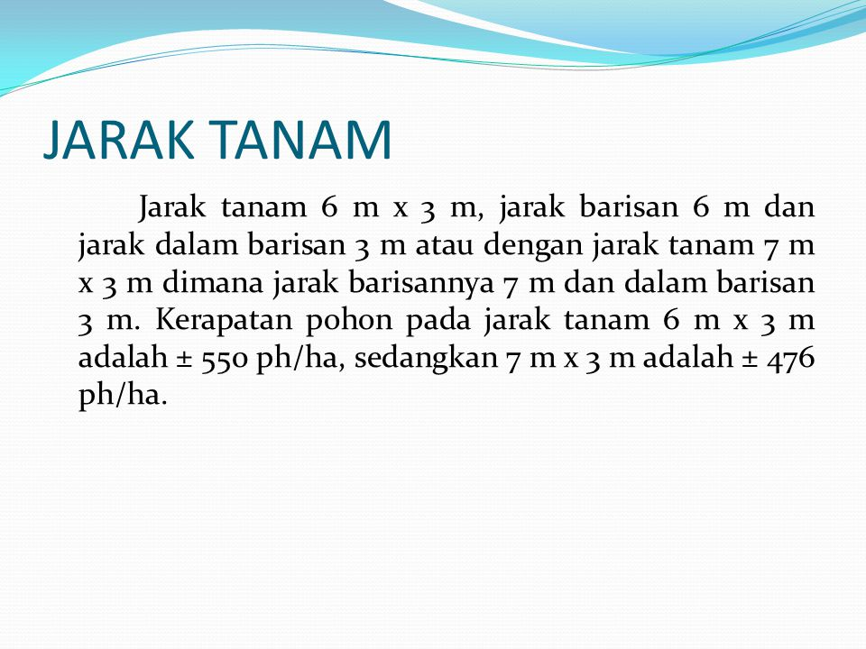 JARAK TANAM