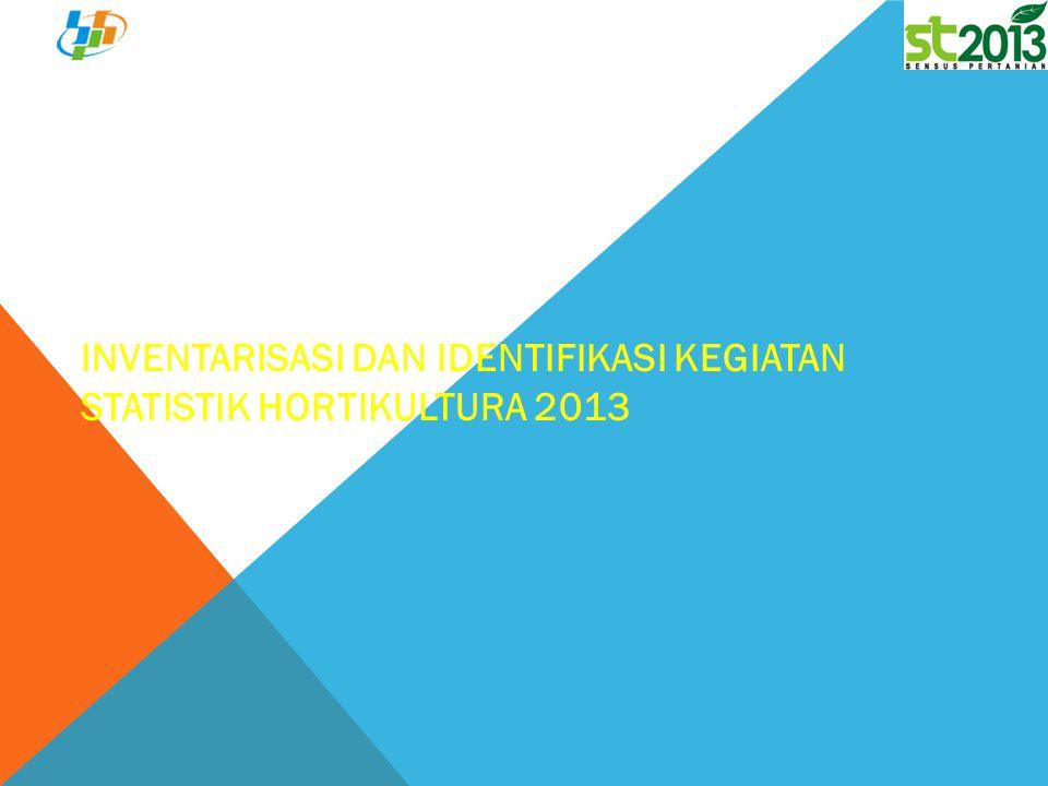 Inventarisasi dan Identifikasi Kegiatan Statistik Hortikultura 2013