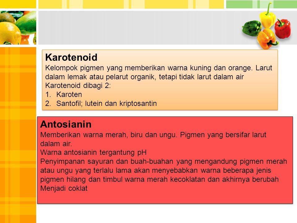 Karotenoid Antosianin