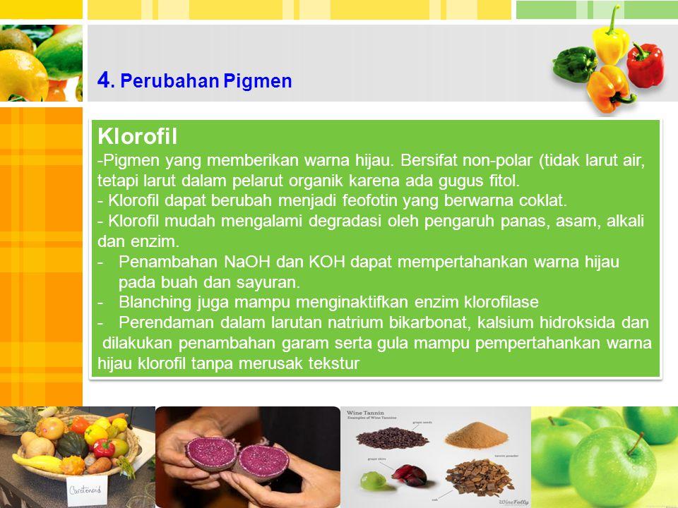 4. Perubahan Pigmen Klorofil