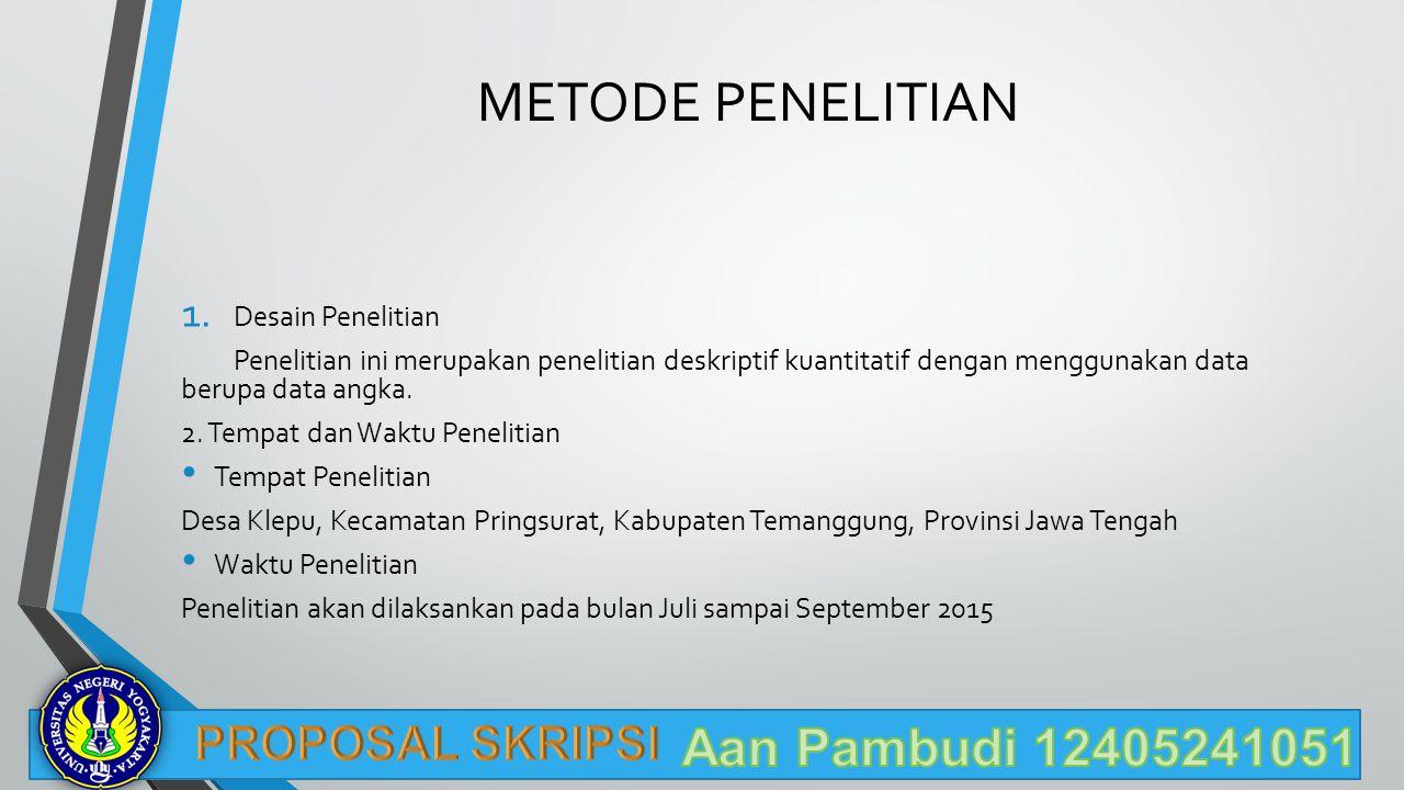 METODE PENELITIAN Aan Pambudi 12405241051 PROPOSAL SKRIPSI