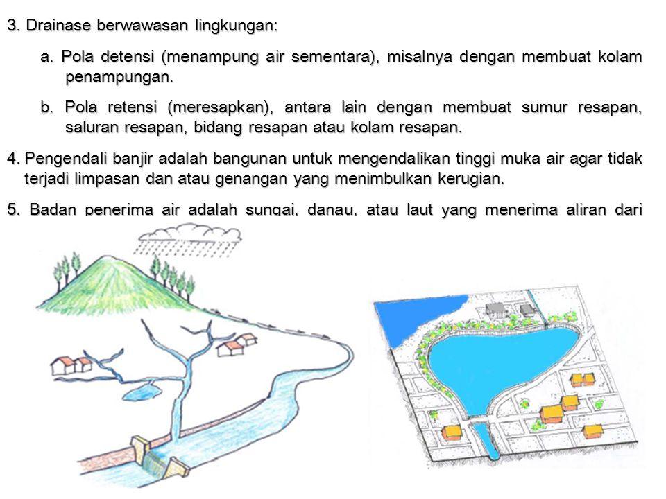 3. Drainase berwawasan lingkungan:
