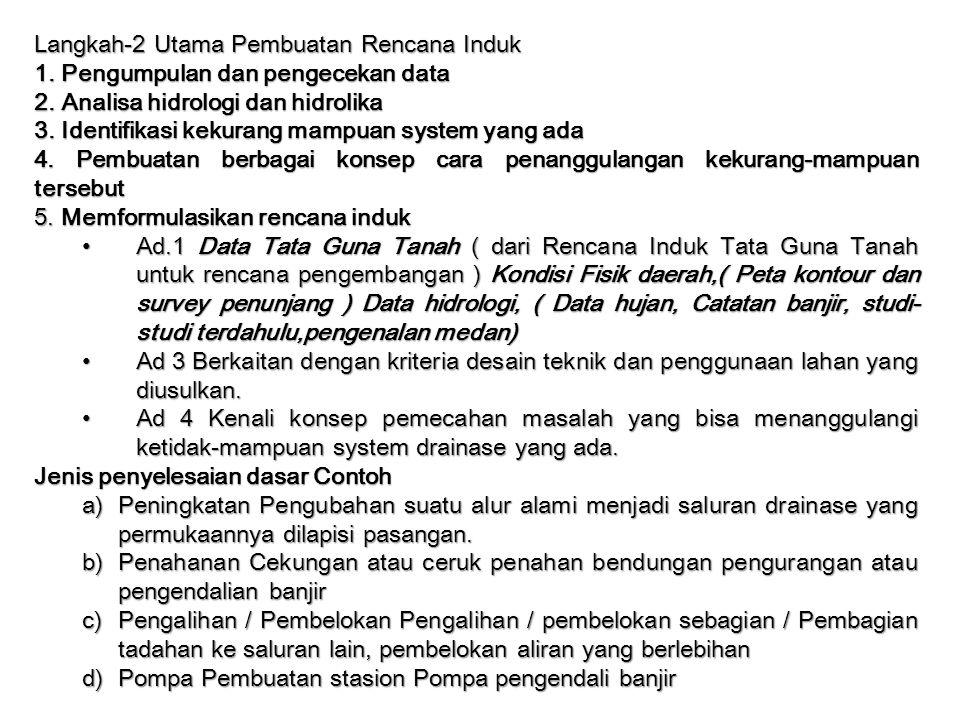 Langkah-2 Utama Pembuatan Rencana Induk