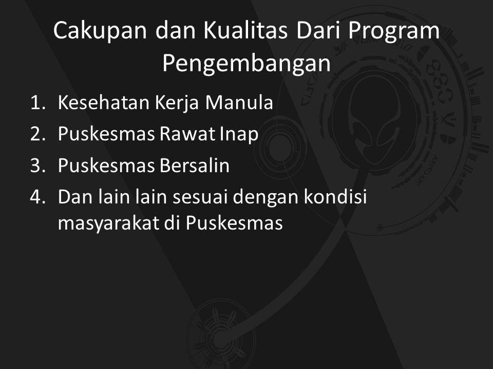 Cakupan dan Kualitas Dari Program Pengembangan