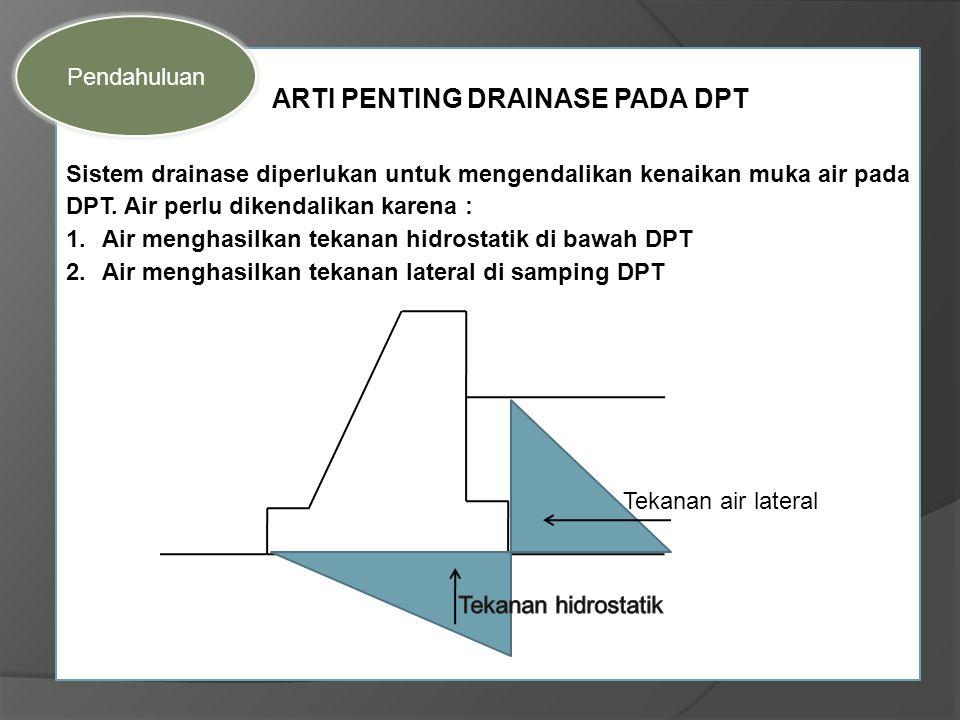 ARTI PENTING DRAINASE PADA DPT
