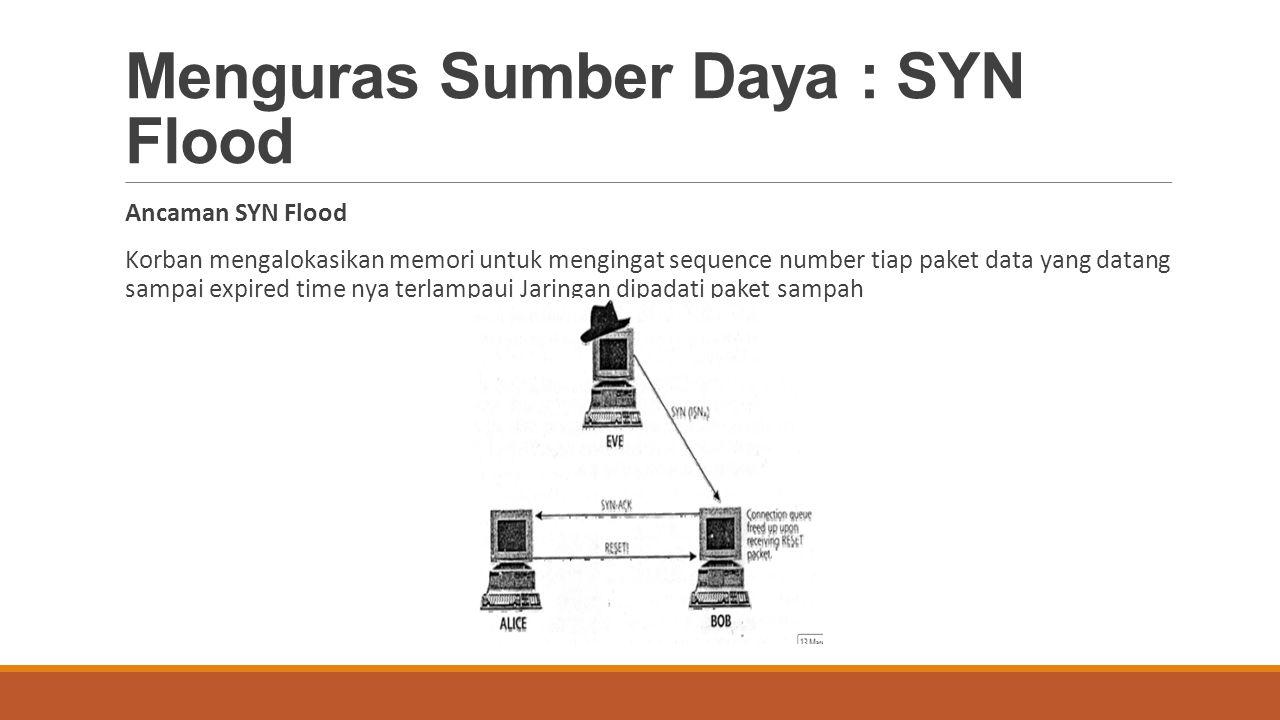 Menguras Sumber Daya : SYN Flood
