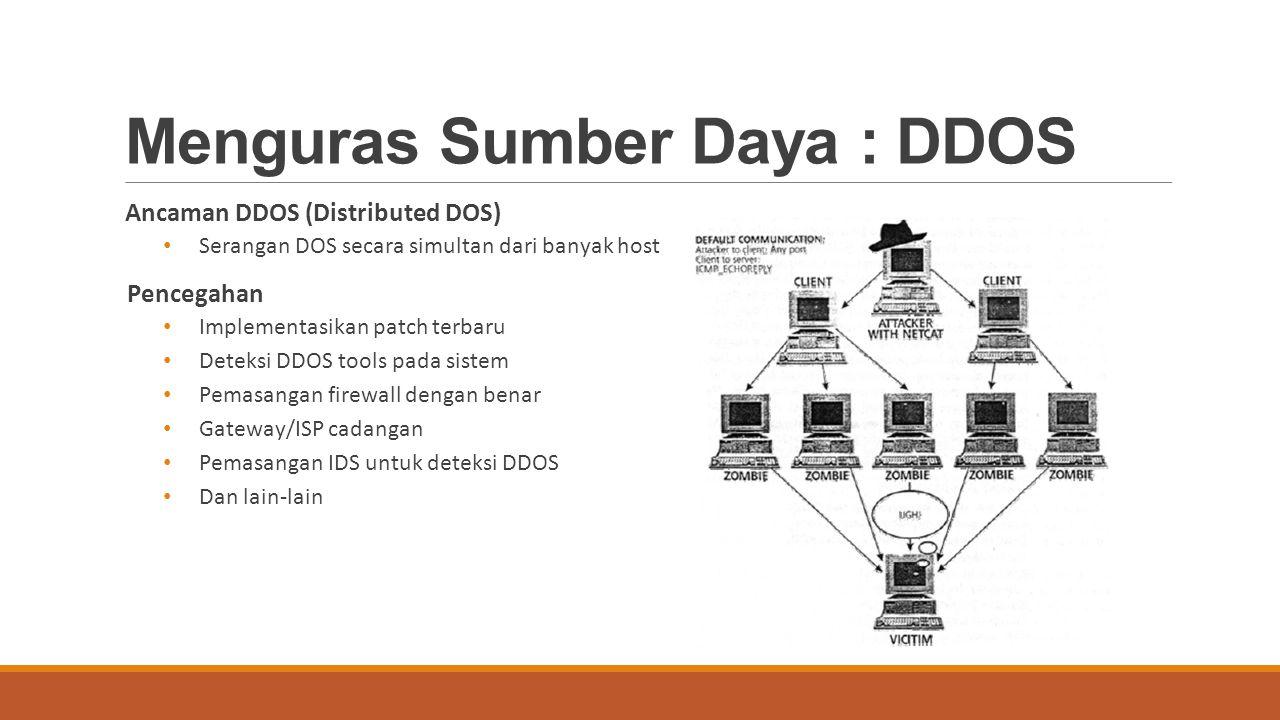 Menguras Sumber Daya : DDOS