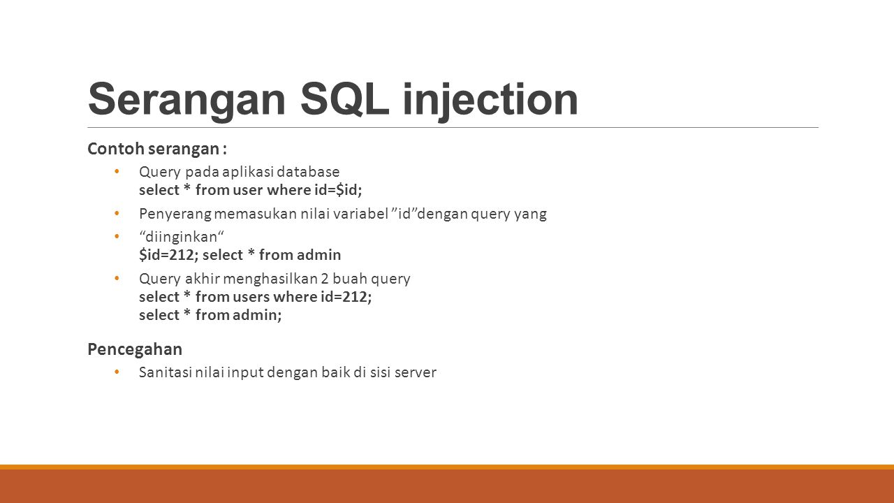 Serangan SQL injection