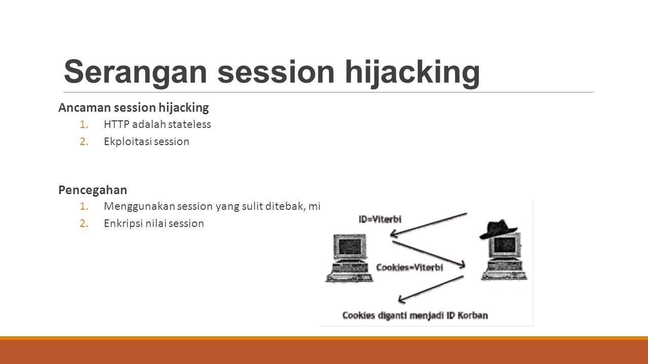 Serangan session hijacking