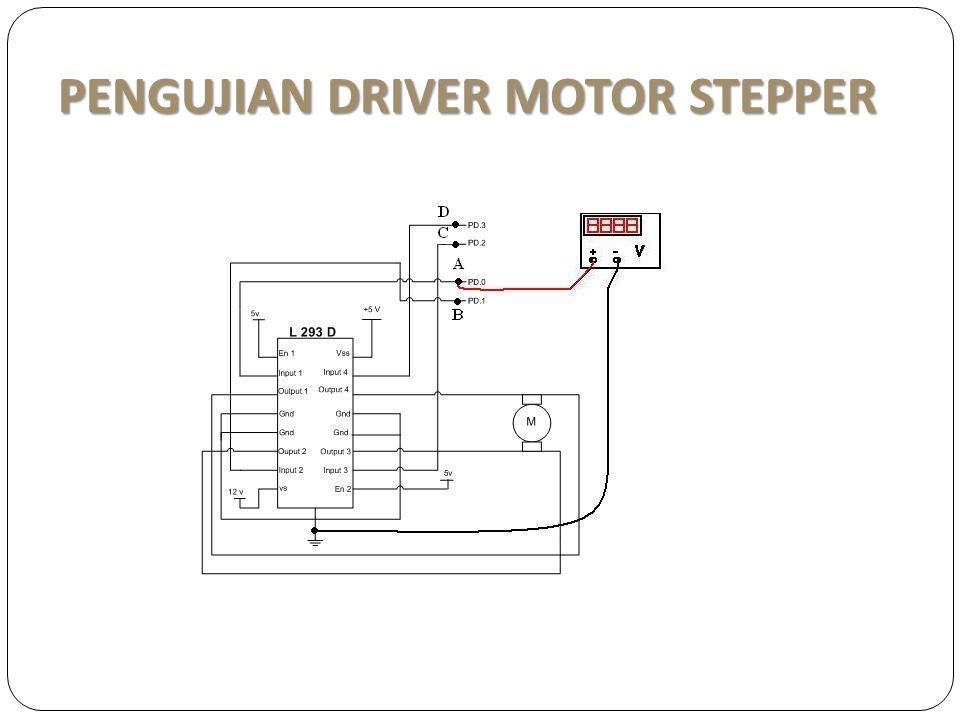 PENGUJIAN DRIVER MOTOR STEPPER