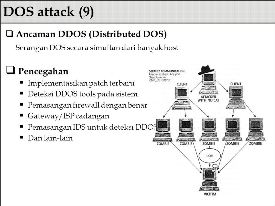 DOS attack (9) Ancaman DDOS (Distributed DOS)