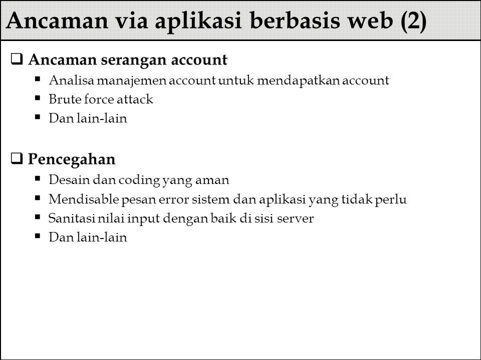 Ancaman via aplikasi berbasis web (2)