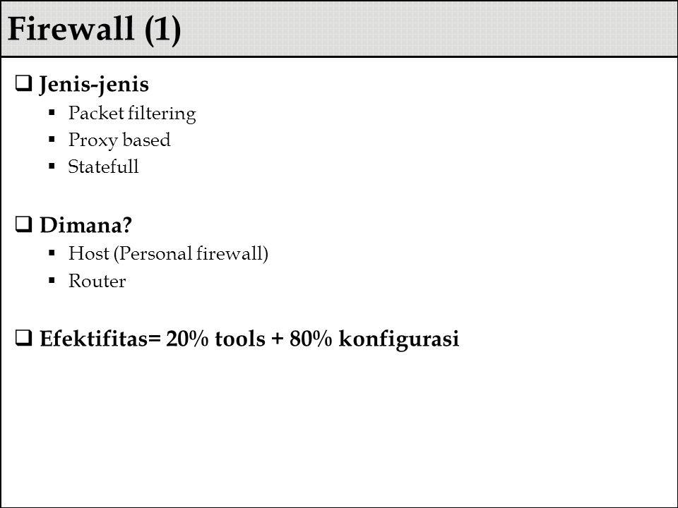 Firewall (1) Jenis-jenis Dimana