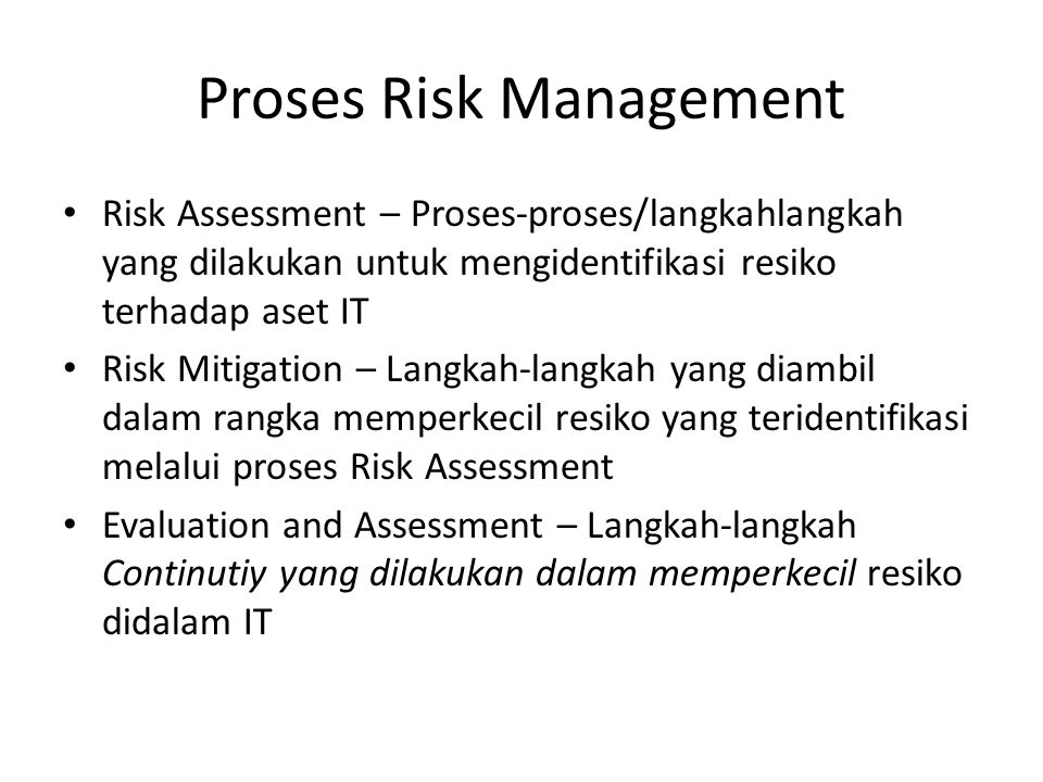 Proses Risk Management