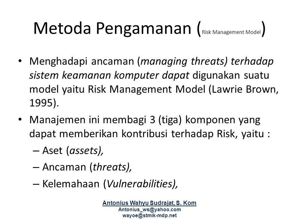 Metoda Pengamanan (Risk Management Model)