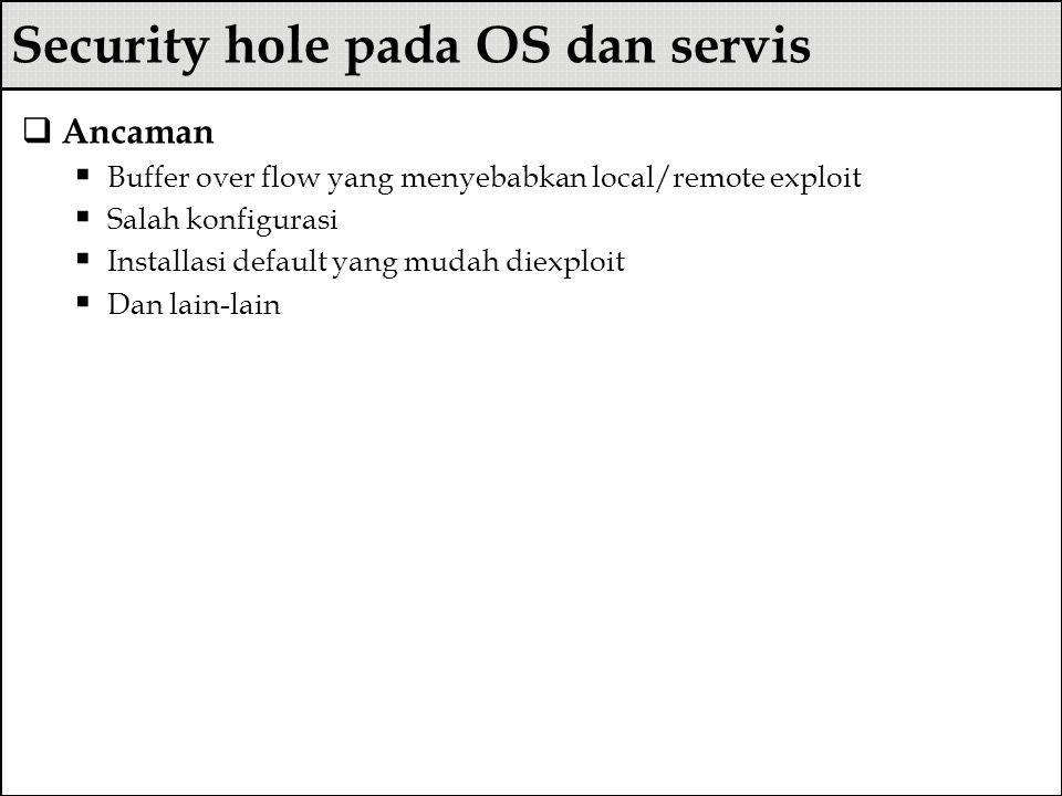 Security hole pada OS dan servis