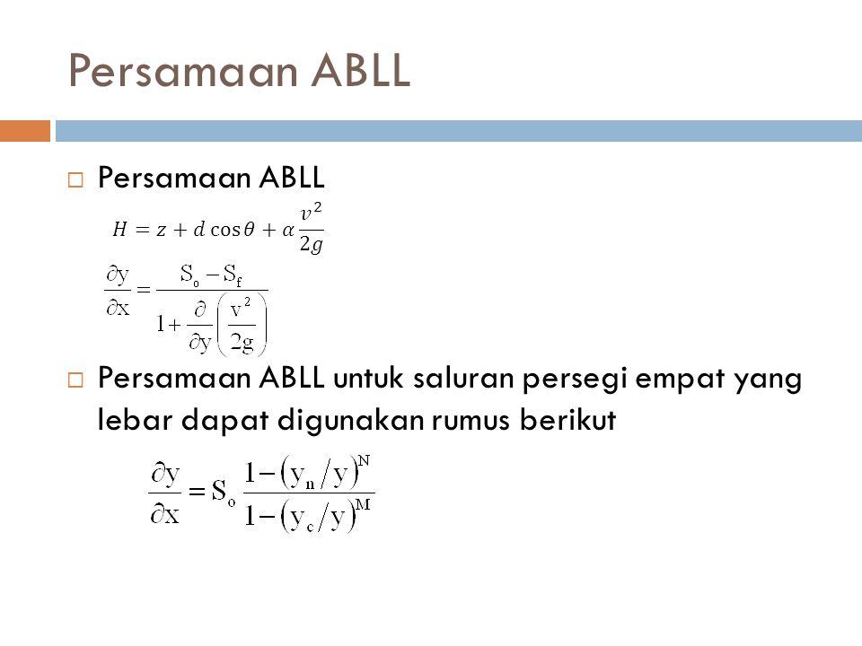 Persamaan ABLL Persamaan ABLL