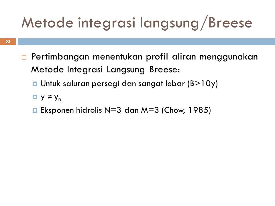 Metode integrasi langsung/Breese