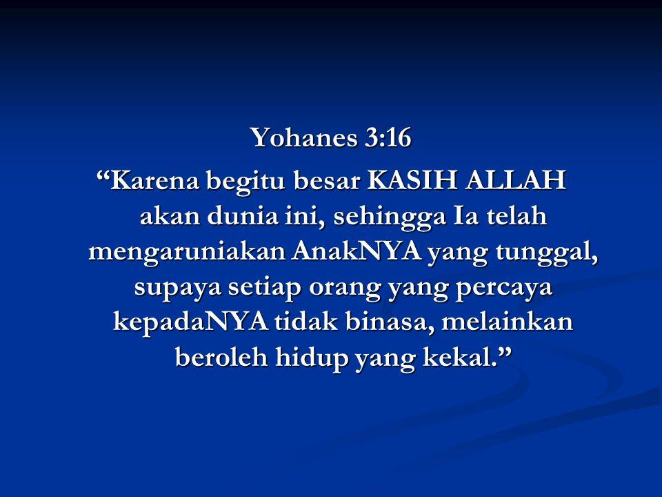 Yohanes 3:16