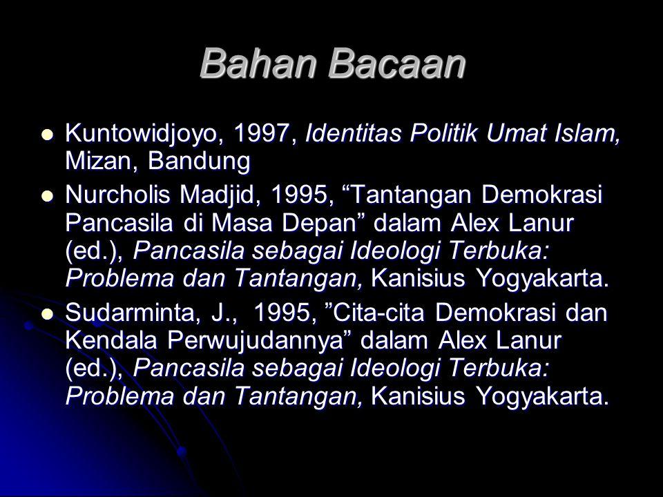 Bahan Bacaan Kuntowidjoyo, 1997, Identitas Politik Umat Islam, Mizan, Bandung.