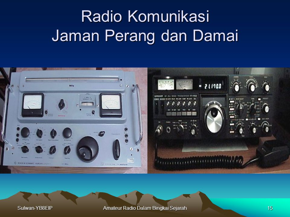 Radio Komunikasi Jaman Perang dan Damai