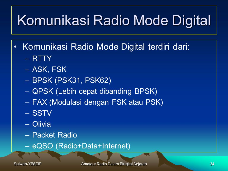 Komunikasi Radio Mode Digital