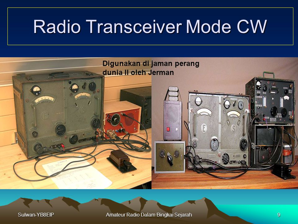 Radio Transceiver Mode CW