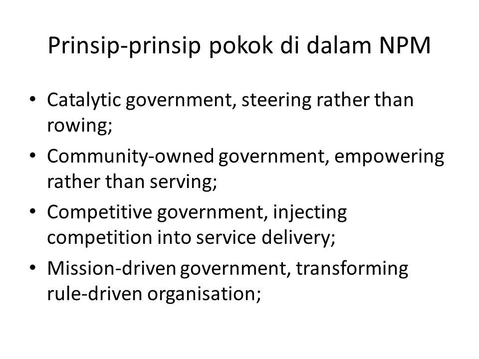 Prinsip-prinsip pokok di dalam NPM