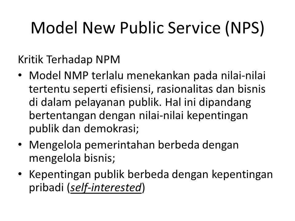 Model New Public Service (NPS)