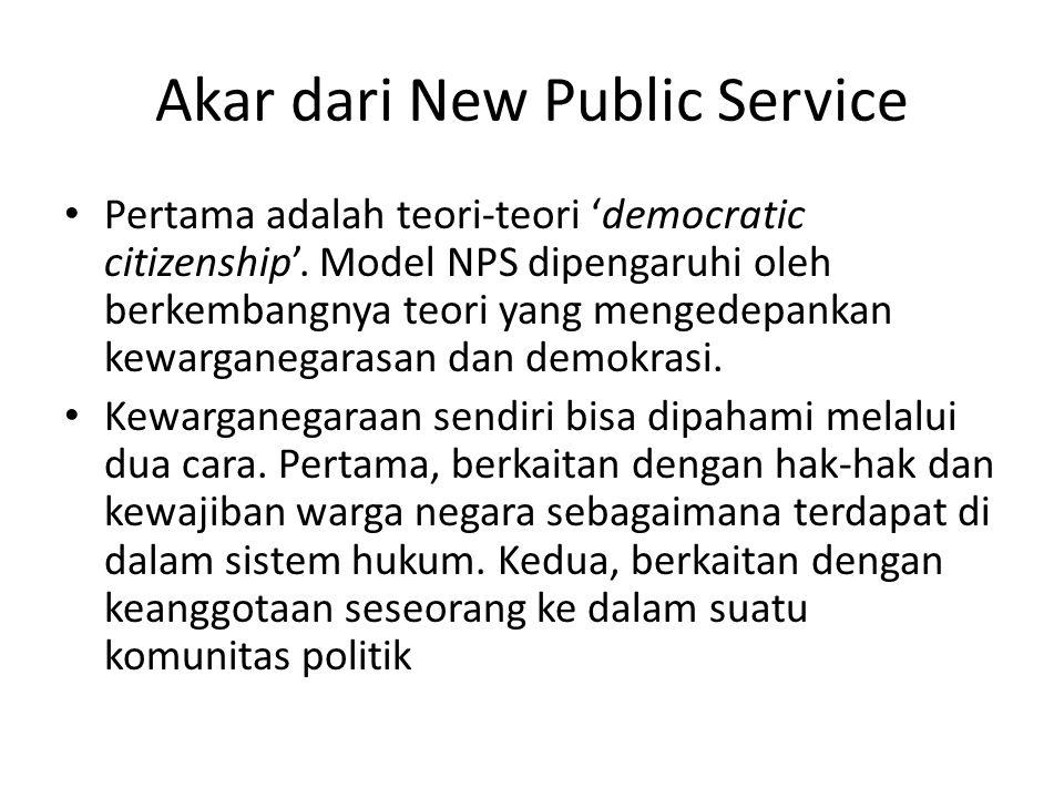 Akar dari New Public Service