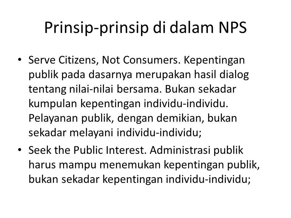Prinsip-prinsip di dalam NPS