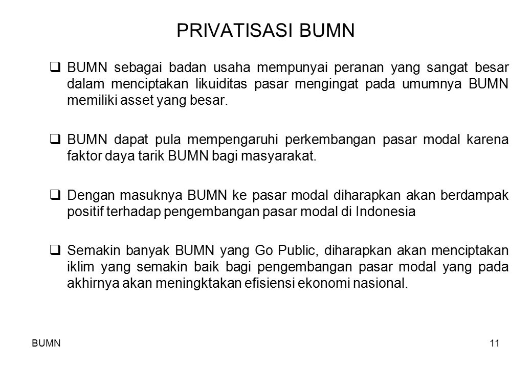 PRIVATISASI BUMN