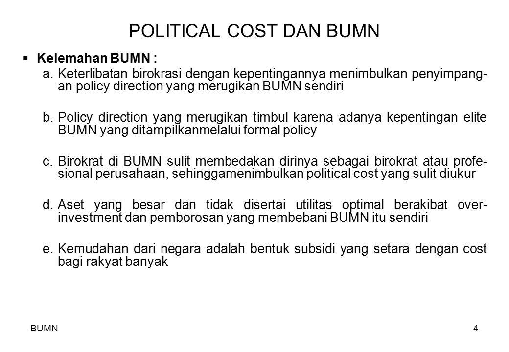 POLITICAL COST DAN BUMN
