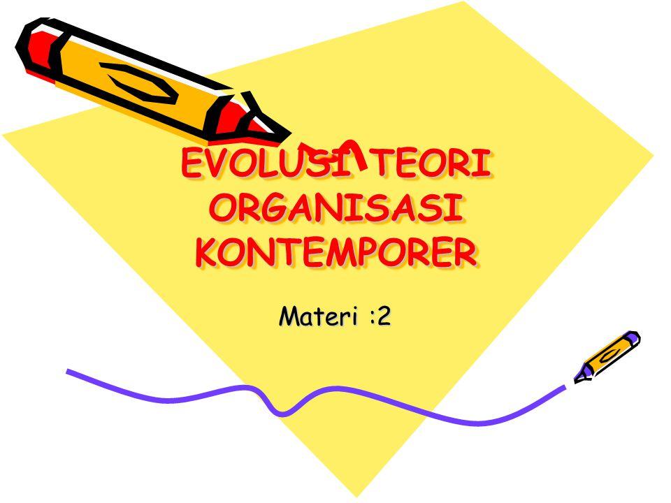 EVOLUSI TEORI ORGANISASI KONTEMPORER