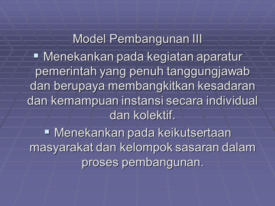 Model Pembangunan III