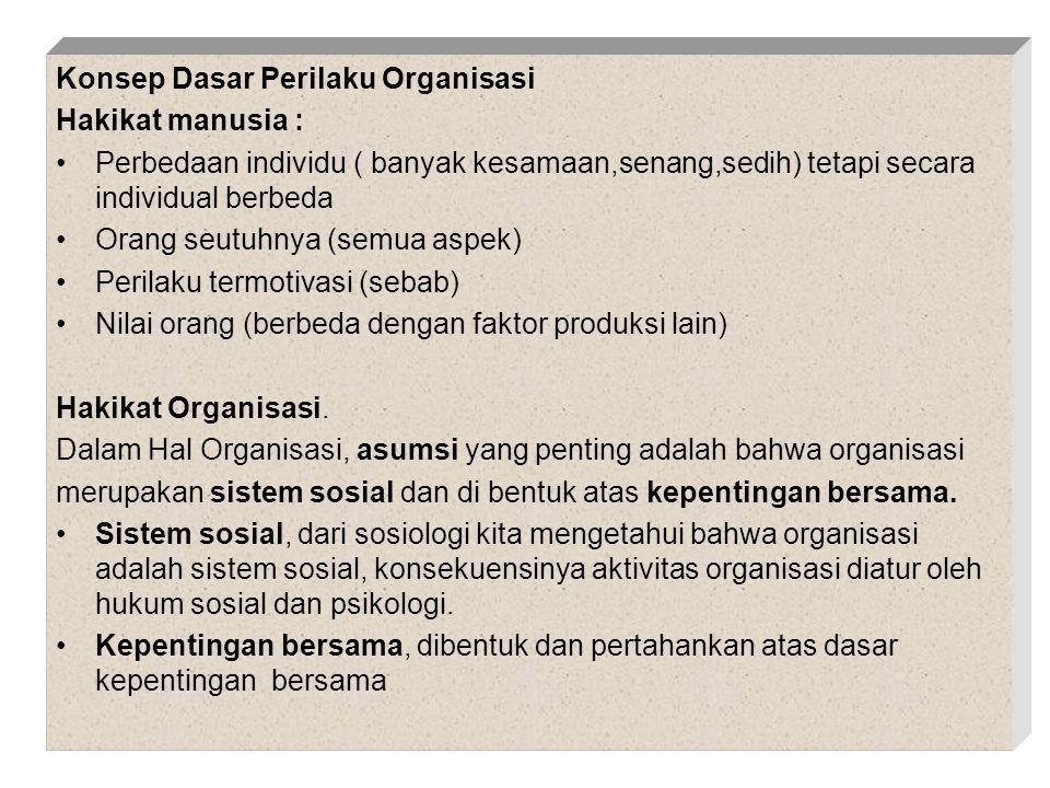 Konsep Dasar Perilaku Organisasi
