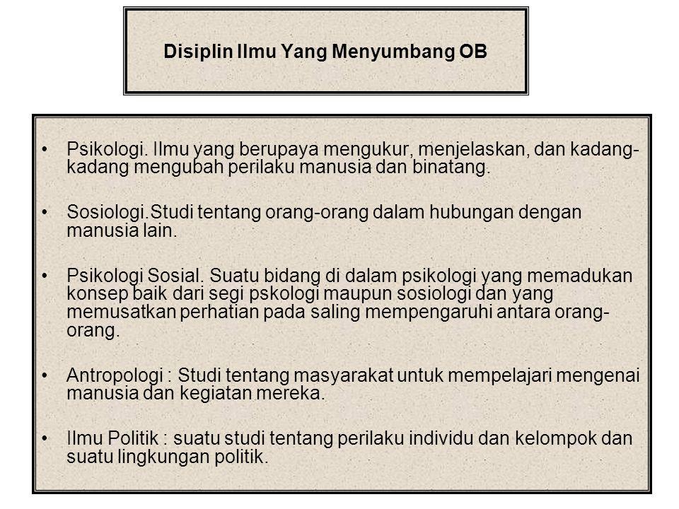 Disiplin Ilmu Yang Menyumbang OB