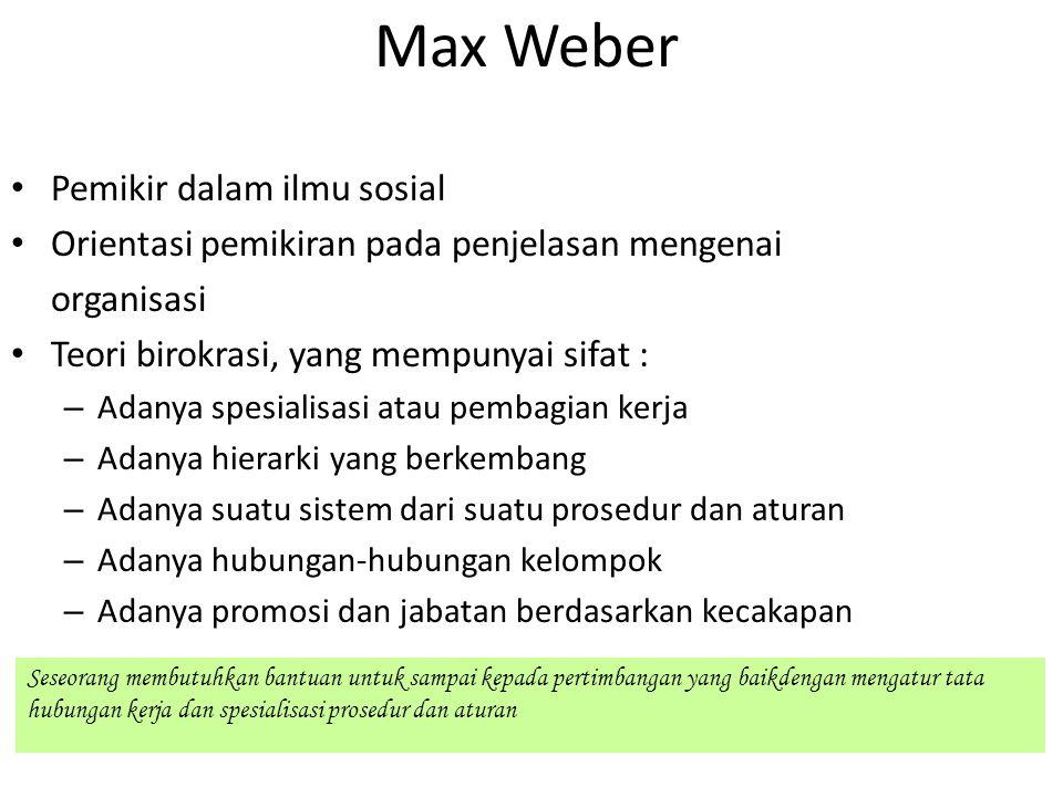 Max Weber Pemikir dalam ilmu sosial