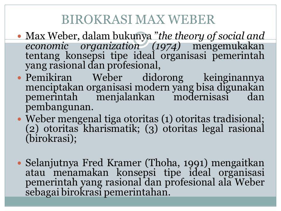 BIROKRASI MAX WEBER