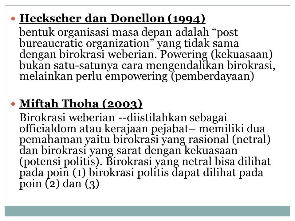 Heckscher dan Donellon (1994)