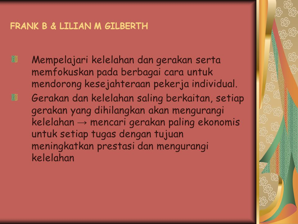 FRANK B & LILIAN M GILBERTH