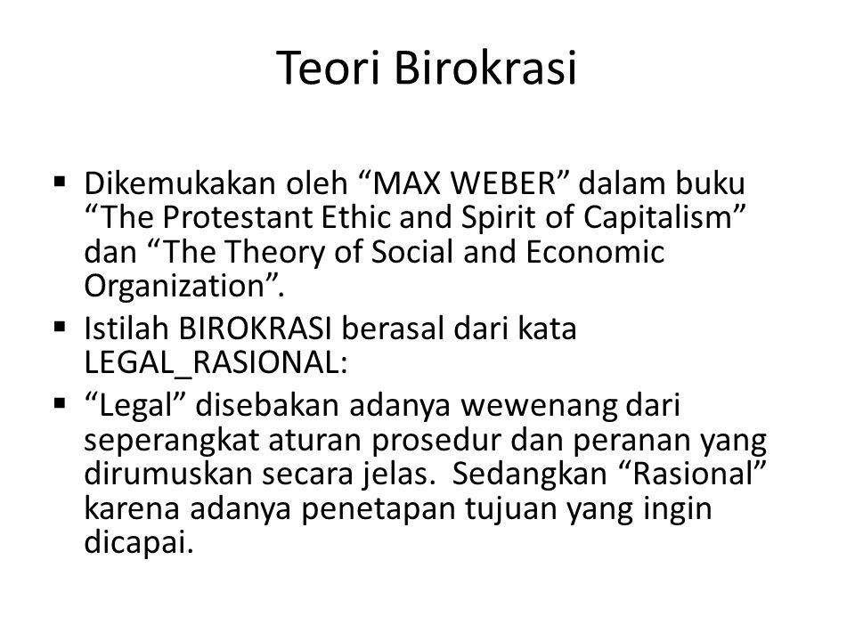 Teori Birokrasi