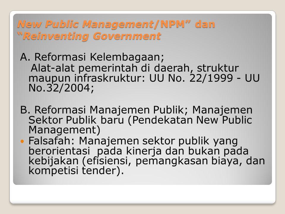 New Public Management/NPM dan Reinventing Government