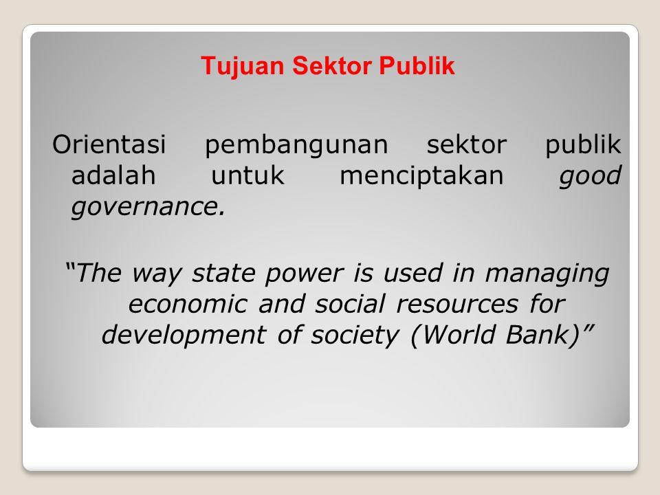 Tujuan Sektor Publik