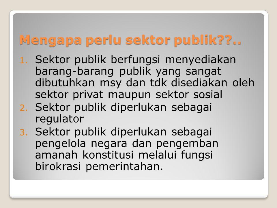 Mengapa perlu sektor publik ..