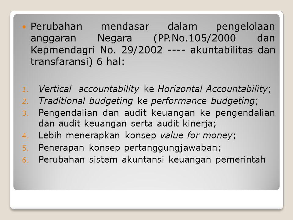 Perubahan mendasar dalam pengelolaan anggaran Negara (PP. No